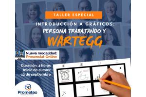 Taller especial: Introducción a los gráficos; Persona trabajando y Wartegg